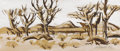 Fine Art - Painting, American:Contemporary   (1950 to present)  , JAMES MILFORD ZORNES (American b.1908). Trees at Hesperia,1956. Watercolor on paper. 9-1/4 x 22 inches (23.5 x 55.9 cm)...