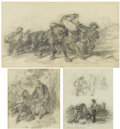 Works on Paper, FELIX OCTAVIUS CARR DARLEY (American 1822-1888). A Group of Three Drawings. Various dimensions. ... (Total: 3 Items)