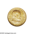 Commemorative Gold: , 1922 G$1 Grant No Star MS64 NGC. This Choice Mint State example isvery nearly Gem quality with its sharply struck features...