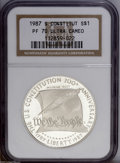 Modern Issues: , 1994-P $1 P.O.W. Silver Dollar PR70 Ultra Cameo NGC, a hint ofapricot color on the left obverse border, a brilliant and b... (2Coins)