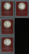 Additional Certified Coins: , 1879-S $1 Morgan Dollar MS65 Paramount International (MS62), Ex:Redfield, flashy fields, golden-brown and aqua color at t... (4Coins)
