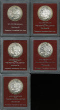 Additional Certified Coins: , 1880-S $1 Morgan Dollar MS65 Paramount International (MS62), Ex:Redfield, luminous honey and aqua margins; 1880-S Morga... (5Coins)