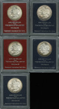 Additional Certified Coins: , 1882-S $1 Morgan Dollar MS60 Paramount International (MS60), Ex:Redfield, attractive mauve and rose-gold toning; 1882-S... (5coins)
