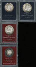 Additional Certified Coins: , 1891-S $1 Morgan Dollar MS60 Paramount International (MS61), Ex:Redfield, peripheral rose and golden-brown toning; 1891... (4Coins)