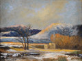 Texas:Early Texas Art - Regionalists, BILL MITTAG (b. 1935). Winter Sunset. Oil on masonite. 9 x12 inches (22.9 x 30.5 cm). Signed lower left. Signed and tit...
