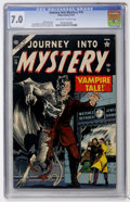 Golden Age (1938-1955):Horror, Journey Into Mystery #16 (Atlas, 1954) CGC FN/VF 7.0 Off-white towhite pages....