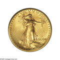 High Relief Double Eagles: , 1907 $20 High Relief, Wire Rim MS66 PCGS. Fewer than 90 1907 High Relief Wire Rim specimens have been certified at the Prem...