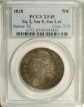 Bust Half Dollars: , 1828 50C Square Base 2, Small 8, Small Letters XF45 PCGS. PCGSPopulation (2/18). NGC Census: (0/0). (#6152)...