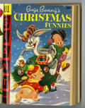 Golden Age (1938-1955):Miscellaneous, Dell Giant Comics: Bugs Bunny Christmas Party #5-8 Bound Volume (Dell, 1954-56)....