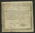Colonial Notes:Massachusetts, Massachusetts Treasury Certificate Mar. 1, 1781 Very Fine. ThisMarch 1, 1781 type is listed in Anderson as MA-10....