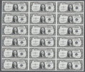 Small Size:Silver Certificates, Fr. 1613N $1 1935D Silver Certificates. Uncut Sheet of 18. Gem Crisp Uncirculated.. This was the 13th sheet printed for this...