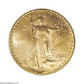 Saint-Gaudens Double Eagles: , 1921 $20 MS64 PCGS. Federal records indicate that the Philadelphiamint coined 528,500 double eagles in 1921. We do not kno...