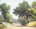 Texas:Early Texas Art - Impressionists, DOLLIE NABINGER (1905-1988). Untitled Country Road. Oil oncanvasboard. 16 x 20 inches (40.6 x 50.8 cm). Signed lower right...