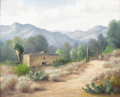 Texas:Early Texas Art - Impressionists, DOLLIE NABINGER (1905-1988). Untitled Mountain Adobe. Oil oncanvasboard. 16 x 20 inches (40.6 x 50.8 cm). Signed lower left...