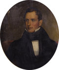 Texas:Early Texas Art - Impressionists, C. R. PARKER (1799-1849). Portrait of Stephen F. Austin. Oilon canvas. 30 x 25 inches (76.2 x 63.5 cm). Signed center l...