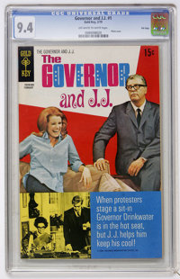Governor and J.J. #1 File Copy (Gold Key, 1970) CGC NM 9.4 Off-white to white pages