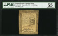 Colonial Notes:Pennsylvania, Pennsylvania March 20, 1773 16s PMG About Uncirculated 55.. ...