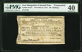 Colonial Notes:New Hampshire, New Hampshire November 3, 1775 30s Counterfeit PMG Extremely Fine40.. ...