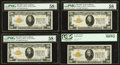 Small Size:Gold Certificates, Fr. 2402 $20 1928 Gold Certificates. Four Consecutive Examples PMG Choice About Unc 58 EPQ (2), Choice About Unc 58 (1) and PC... (Total: 4 notes)