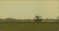 FRANK REAUGH (1860-1945) The Barn Pastel on grit paper 3-1/2 x 6-3/4 inches (8.9 x 17.1 cm) Un