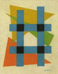 Fine Art - Painting, American:Modern  (1900 1949)  , EMIL JAMES BISTTRAM (American 1895-1976). Untitled, 1947.Encaustic on paper. 14 x 11 inches (35.6 x 27.9 cm). Signed an...