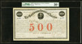 Confederate Notes:Group Lots, Ball 15 Cr. 3A $500 1861 Bond PMG Very Fine 30 Net. . ...