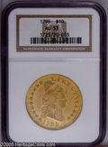 Early Eagles: , 1795 $10 13 Leaves AU53 NGC. PCGS Population (18/94). NGC Census:(6/113). Mintage: 5,583. Numismedia Wsl. Price: $36,500.(...