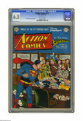 Golden Age (1938-1955):Superhero, Action Comics #147 (DC, 1950) CGC FN+ 6.5 Off-white pages. Whimsical Superman cover by Wayne Boring. Boring and Curt Swan in...