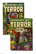 Golden Age (1938-1955):Horror, Adventures Into Terror #6 and 24 Group (Atlas, 1951-53) Condition:VG-. This group contains issues #6 and 24. Issue 6 featur... (2Comic Books)