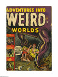 Golden Age (1938-1955):Horror, Adventures Into Weird Worlds #1 (Atlas, 1952) Condition: VG.Features Atom Bomb panels. Joe Maneely cover. Russ Heath and Ge...