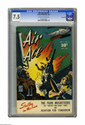 Air Ace V2#3 Pennsylvania pedigree (Street & Smith, 1944) CGC VF- 7.5 Off-white to white pages. Overstreet 2005 VF 8...