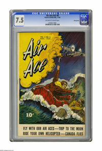 Air Ace V2#6 Pennsylvania pedigree (Street & Smith, 1944) CGC VF- 7.5 Off-white to white pages. Great World War II c...