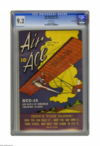 Air Ace V2#10 Pennsylvania pedigree (Street & Smith, 1945) CGC NM- 9.2 White pages. Highest grade yet assigned by CG...