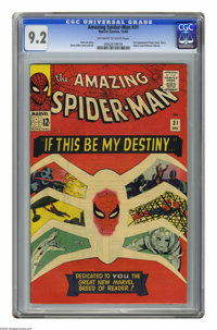 The Amazing Spider-Man #31 (Marvel, 1965) CGC NM- 9.2 Off-white to white pages. First appearances of Harry Osborn, Gwen...