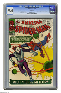 The Amazing Spider-Man #36 (Marvel, 1966) CGC NM 9.4 White pages. Origin and first appearance of the Looter. Steve Ditko...