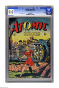 Atomic Comics #4 Lost Valley pedigree (Green Publishing Co., 1946) CGC VF/NM 9.0 Off-white pages. Matt Baker cover. Bake...