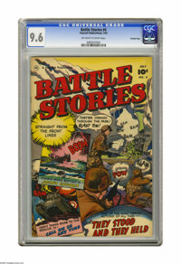 Battle Stories #4 Crowley Copy pedigree (Fawcett, 1952) CGC NM+ 9.6 Off-white to white pages. Outstanding grade and war...