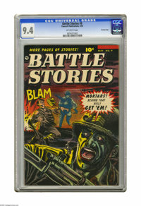 Battle Stories #9 Crowley Copy pedigree (Fawcett, 1953) CGC NM 9.4 Off-white pages. CGC hasn't awarded a higher grade fo...