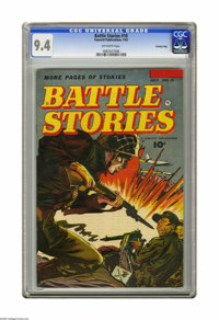 Battle Stories #10 Crowley Copy pedigree (Fawcett, 1953) CGC NM 9.4 Off-white pages. Highest grade yet assigned by CGC f...