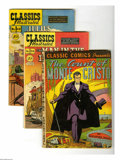 "Golden Age (1938-1955):Classics Illustrated, Classics Illustrated Group (Gilberton, 1942-69). Five-issue lotincludes Classic Comics #3 (""Count of Monte Cristo,"" HRN... (5Comic Books)"
