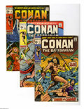 Bronze Age (1970-1979):Miscellaneous, Conan the Barbarian Group (Marvel, 1970-72) Condition: Average FN.Five-issue group lot includes #1 (origin and first comic ... (5Comic Books)