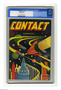 Contact Comics #12 (Aviation Press, 1946) CGC FN/VF 7.0 Light tan to off-white pages. Sky Rangers, Air Kids, and Ace Dia...