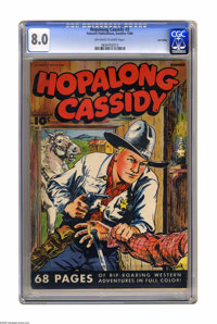 Hopalong Cassidy #2 Lost Valley pedigree (Fawcett, 1946) CGC VF 8.0 Off-white to white pages. Overstreet 2005 VF 8.0 val...
