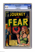Golden Age (1938-1955):Horror, Journey Into Fear #3 (Superior, 1951) CGC VF+ 8.5 Cream tooff-white pages. Overstreet 2005 VF 8.0 value = $239; VF/NM 9.0v...