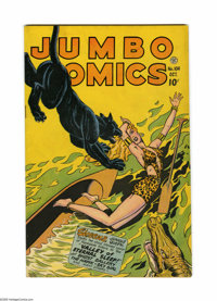 Jumbo Comics #104 (Fiction House, 1947) Condition: FN+. Sky Girl by Matt Baker, with ZX-5 and Ghost Gallery by Jack Kame...
