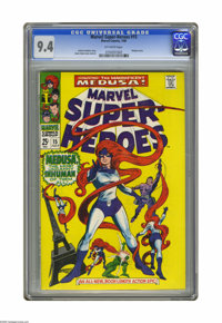 Marvel Super-Heroes #15 (Marvel, 1968) CGC NM 9.4 Off-white to white pages. Medusa story. Gene Colan cover and art. Over...