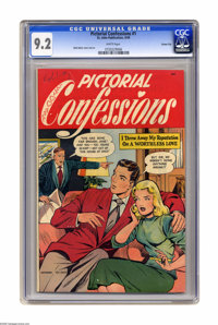 Pictorial Confessions #1 Carson City pedigree (St. John, 1949) CGC NM- 9.2 White pages. Matt Baker cover and art. This i...