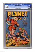 Golden Age (1938-1955):Science Fiction, Planet Comics #55 Lost valley pedigree (Fiction House, 1948) CGC FN/VF 7.0 Off-white pages. Matt Baker, Murphy Anderson, Geo...
