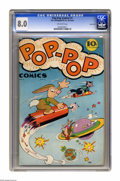 Golden Age (1938-1955):Funny Animal, Pop-Pop Comics #1 Carson City pedigree (R. B. Leffingwell Co.,1945) CGC VF 8.0 Off-white pages. Overstreet 2005 VF 8.0 valu...