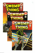 Bronze Age (1970-1979):Horror, Swamp Thing Group (DC, 1973-75) Condition: Average VF. This groupconsists of 30 comics: #3 (five copies) (first full appear... (30)